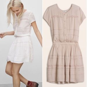 Aritzia | NEW Talulah Ecru White Kisset Dress S